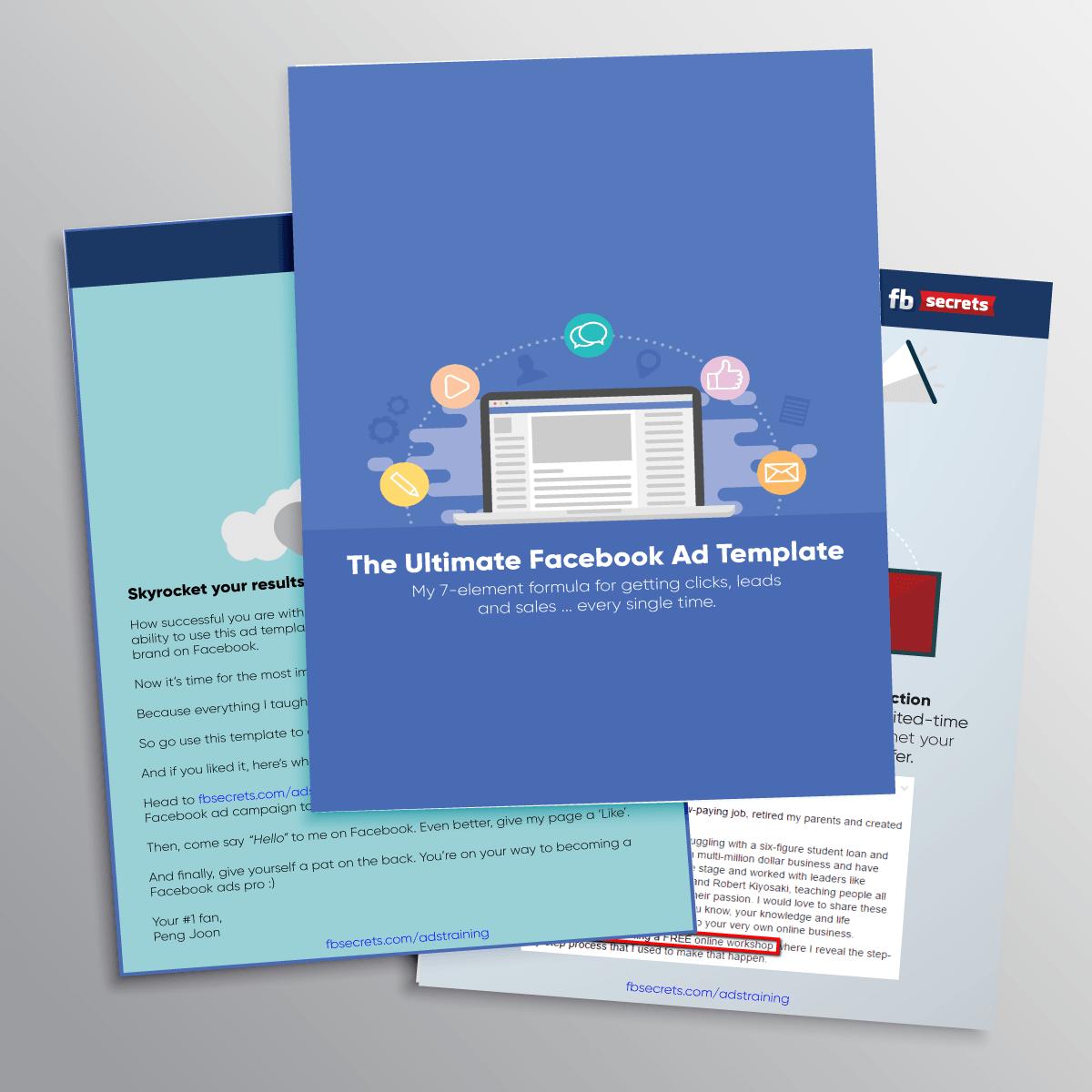 FB Secrets - Facebook ad design template